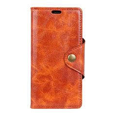 Custodia Portafoglio In Pelle Cover con Supporto L03 per Asus ZenFone Live L1 ZA550KL Arancione