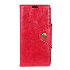 Custodia Portafoglio In Pelle Cover con Supporto L03 per Asus ZenFone Live L1 ZA550KL Rosso