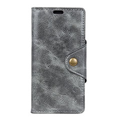 Custodia Portafoglio In Pelle Cover con Supporto L03 per Asus ZenFone Live L1 ZA551KL Grigio