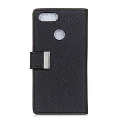Custodia Portafoglio In Pelle Cover con Supporto L03 per Asus Zenfone Max Plus M1 ZB570TL Nero