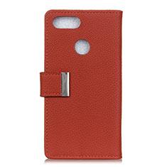 Custodia Portafoglio In Pelle Cover con Supporto L03 per Asus Zenfone Max Plus M1 ZB570TL Rosso Rosa