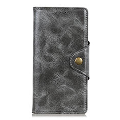 Custodia Portafoglio In Pelle Cover con Supporto L03 per BQ Vsmart joy 1 Plus Grigio
