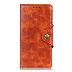 Custodia Portafoglio In Pelle Cover con Supporto L03 per Google Pixel 4 Arancione