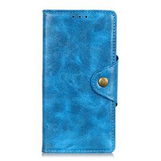 Custodia Portafoglio In Pelle Cover con Supporto L03 per Google Pixel 4 Blu