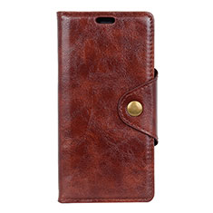 Custodia Portafoglio In Pelle Cover con Supporto L03 per HTC Desire 12S Marrone
