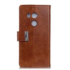 Custodia Portafoglio In Pelle Cover con Supporto L03 per HTC U11 Eyes Marrone