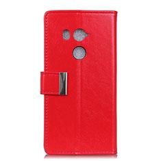 Custodia Portafoglio In Pelle Cover con Supporto L03 per HTC U11 Eyes Rosso