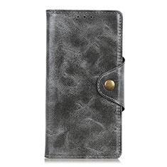 Custodia Portafoglio In Pelle Cover con Supporto L03 per HTC U19E Grigio