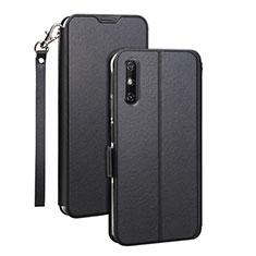 Custodia Portafoglio In Pelle Cover con Supporto L03 per Huawei Enjoy 10e Nero