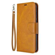 Custodia Portafoglio In Pelle Cover con Supporto L03 per Huawei Honor 9A Arancione