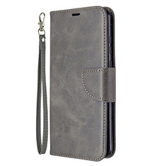 Custodia Portafoglio In Pelle Cover con Supporto L03 per Huawei Honor 9A Grigio