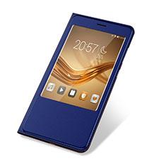 Custodia Portafoglio In Pelle Cover con Supporto L03 per Huawei Honor Note 8 Blu