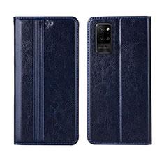 Custodia Portafoglio In Pelle Cover con Supporto L03 per Huawei Honor Play4 Pro 5G Blu