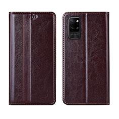Custodia Portafoglio In Pelle Cover con Supporto L03 per Huawei Honor Play4 Pro 5G Marrone