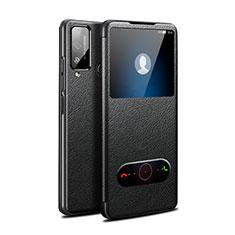 Custodia Portafoglio In Pelle Cover con Supporto L03 per Huawei Honor Play4T Nero