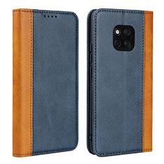 Custodia Portafoglio In Pelle Cover con Supporto L03 per Huawei Mate 20 Pro Blu
