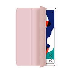 Custodia Portafoglio In Pelle Cover con Supporto L03 per Huawei MatePad 5G 10.4 Rosa