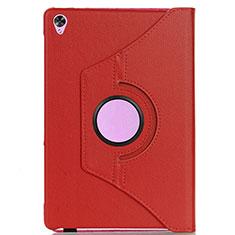 Custodia Portafoglio In Pelle Cover con Supporto L03 per Huawei MediaPad M6 8.4 Rosso
