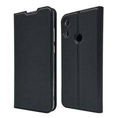 Custodia Portafoglio In Pelle Cover con Supporto L03 per Huawei Y6 Prime (2019) Nero