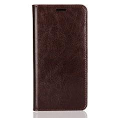 Custodia Portafoglio In Pelle Cover con Supporto L03 per Huawei Y9 (2018) Marrone