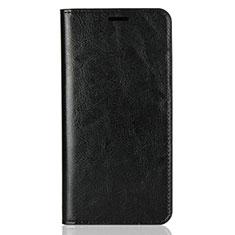 Custodia Portafoglio In Pelle Cover con Supporto L03 per Huawei Y9 (2018) Nero