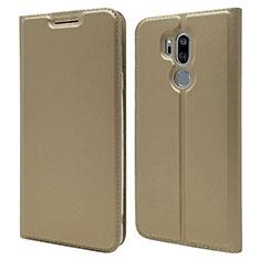 Custodia Portafoglio In Pelle Cover con Supporto L03 per LG G7 Oro