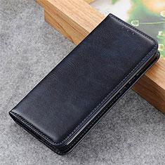 Custodia Portafoglio In Pelle Cover con Supporto L03 per LG Q52 Blu Notte