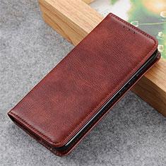 Custodia Portafoglio In Pelle Cover con Supporto L03 per LG Q52 Marrone