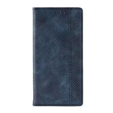Custodia Portafoglio In Pelle Cover con Supporto L03 per Motorola Moto G9 Blu