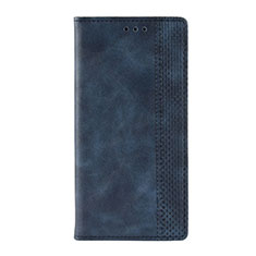 Custodia Portafoglio In Pelle Cover con Supporto L03 per Motorola Moto G9 Play Blu