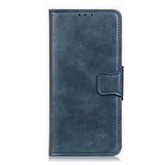 Custodia Portafoglio In Pelle Cover con Supporto L03 per Motorola Moto One Fusion Blu