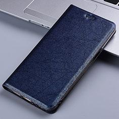 Custodia Portafoglio In Pelle Cover con Supporto L03 per Nokia 2.4 Blu