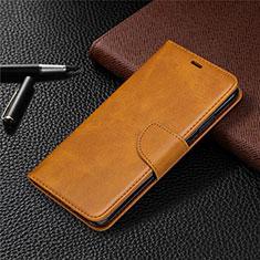 Custodia Portafoglio In Pelle Cover con Supporto L03 per Nokia 5.3 Arancione