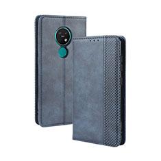 Custodia Portafoglio In Pelle Cover con Supporto L03 per Nokia 7.2 Blu