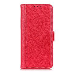 Custodia Portafoglio In Pelle Cover con Supporto L03 per Nokia C1 Rosso