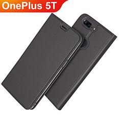 Custodia Portafoglio In Pelle Cover con Supporto L03 per OnePlus 5T A5010 Nero