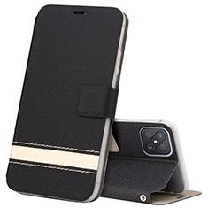 Custodia Portafoglio In Pelle Cover con Supporto L03 per Oppo Reno4 Z 5G Nero