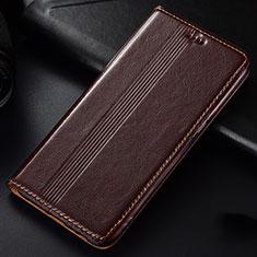 Custodia Portafoglio In Pelle Cover con Supporto L03 per Samsung Galaxy A81 Marrone