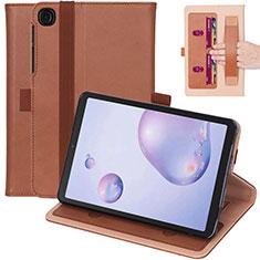Custodia Portafoglio In Pelle Cover con Supporto L03 per Samsung Galaxy Tab A7 4G 10.4 SM-T505 Marrone