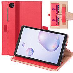 Custodia Portafoglio In Pelle Cover con Supporto L03 per Samsung Galaxy Tab A7 4G 10.4 SM-T505 Rosso