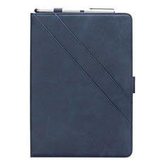 Custodia Portafoglio In Pelle Cover con Supporto L03 per Samsung Galaxy Tab S5e 4G 10.5 SM-T725 Blu