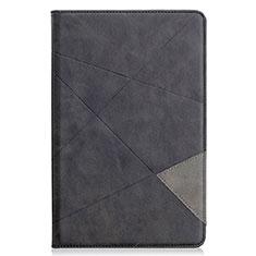 Custodia Portafoglio In Pelle Cover con Supporto L03 per Samsung Galaxy Tab S6 Lite 10.4 SM-P610 Nero