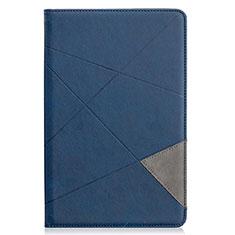 Custodia Portafoglio In Pelle Cover con Supporto L03 per Samsung Galaxy Tab S6 Lite 4G 10.4 SM-P615 Blu