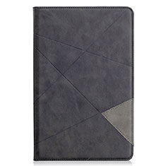 Custodia Portafoglio In Pelle Cover con Supporto L03 per Samsung Galaxy Tab S6 Lite 4G 10.4 SM-P615 Nero