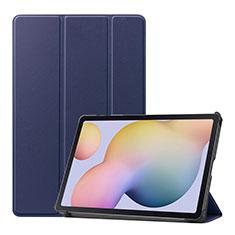 Custodia Portafoglio In Pelle Cover con Supporto L03 per Samsung Galaxy Tab S7 4G 11 SM-T875 Blu
