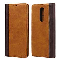 Custodia Portafoglio In Pelle Cover con Supporto L03 per Sony Xperia 1 Arancione