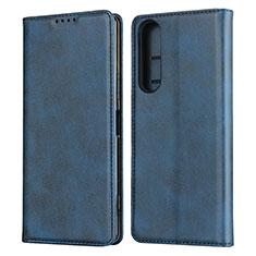 Custodia Portafoglio In Pelle Cover con Supporto L03 per Sony Xperia 1 II Blu
