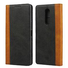 Custodia Portafoglio In Pelle Cover con Supporto L03 per Sony Xperia 1 Nero