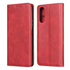 Custodia Portafoglio In Pelle Cover con Supporto L03 per Sony Xperia 10 II Rosso