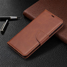 Custodia Portafoglio In Pelle Cover con Supporto L03 per Sony Xperia L4 Marrone